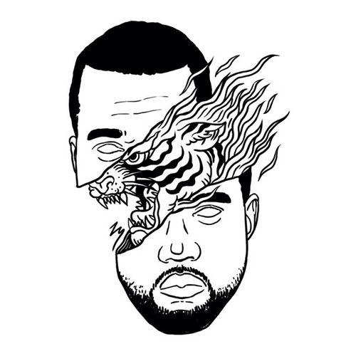 500x500 Kanye West Illustration Kanye Poster Kanye West