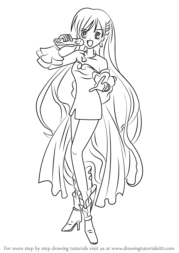 598x844 Learn How To Draw Karen From Mermaid Melody (Mermaid Melody) Step