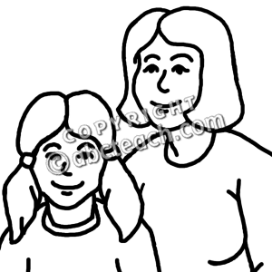 300x300 Collection Of Daughter Clipart Black And White High Quality