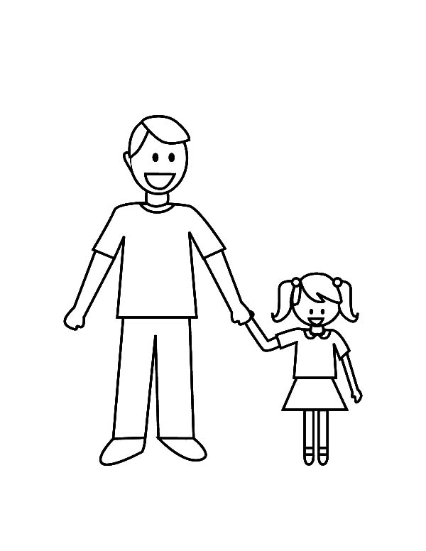 600x776 Collection Of Father Daughter Dance Coloring Pages High