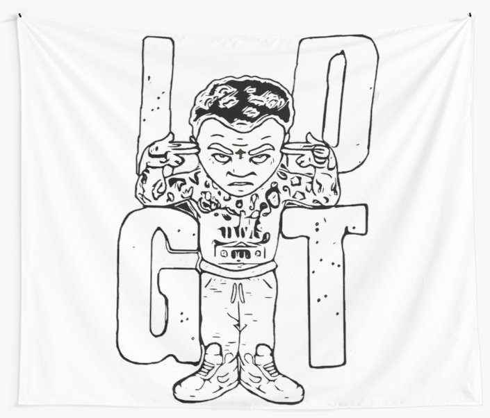 705x602 Kevin Gates Idgt Wall Tapestries By Itscooper98 Redbubble