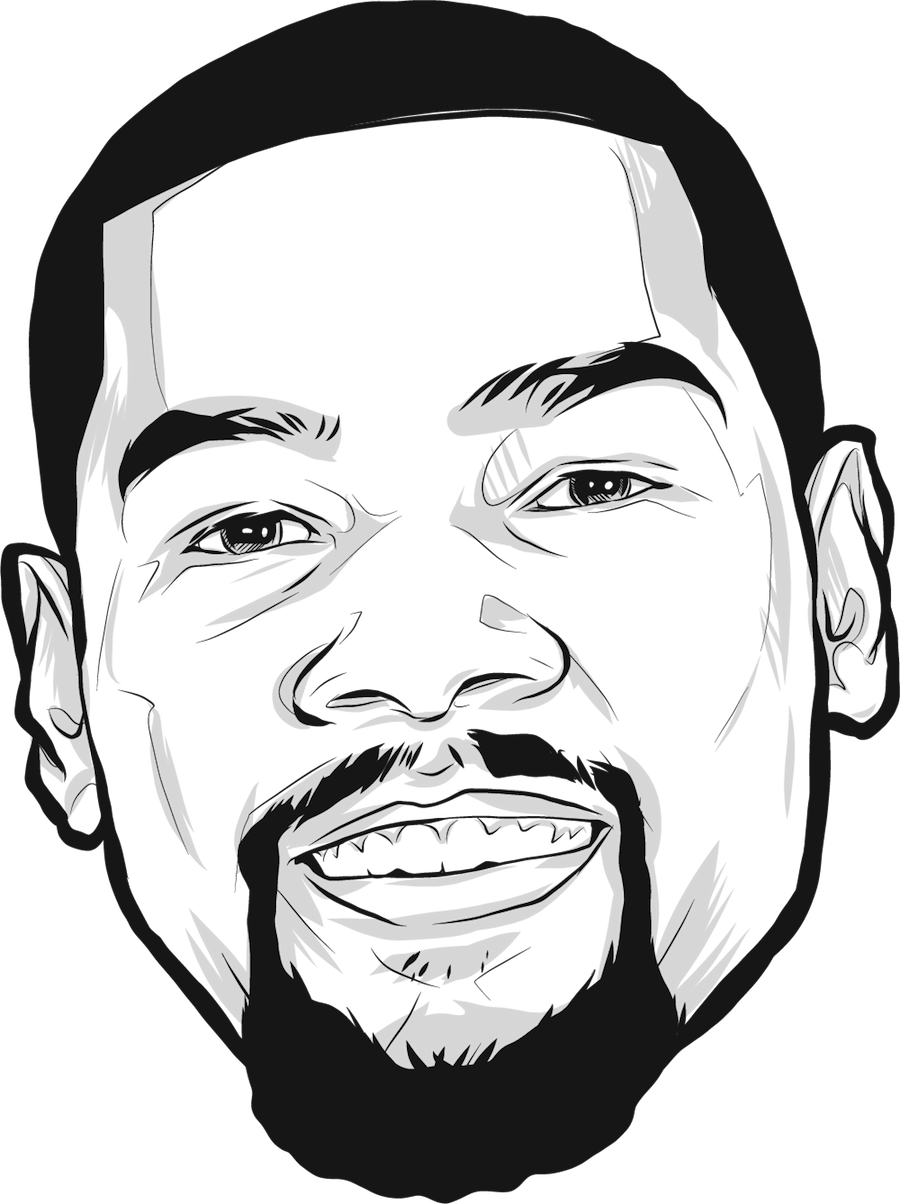 900x1204 Collection Of Kevin Durant Face Drawing High Quality, Free