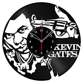 355x355 Kevin Gates Vinyl Record Wall Clock Fan Art Handmade