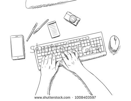 Keyboard Drawing Picture