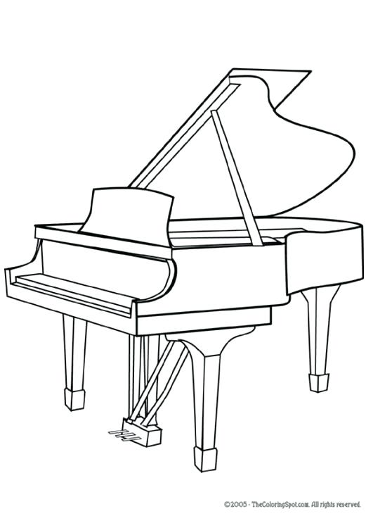 531x750 How To Draw A Piano Also Piano Keyboard Piano Draw Something Ars