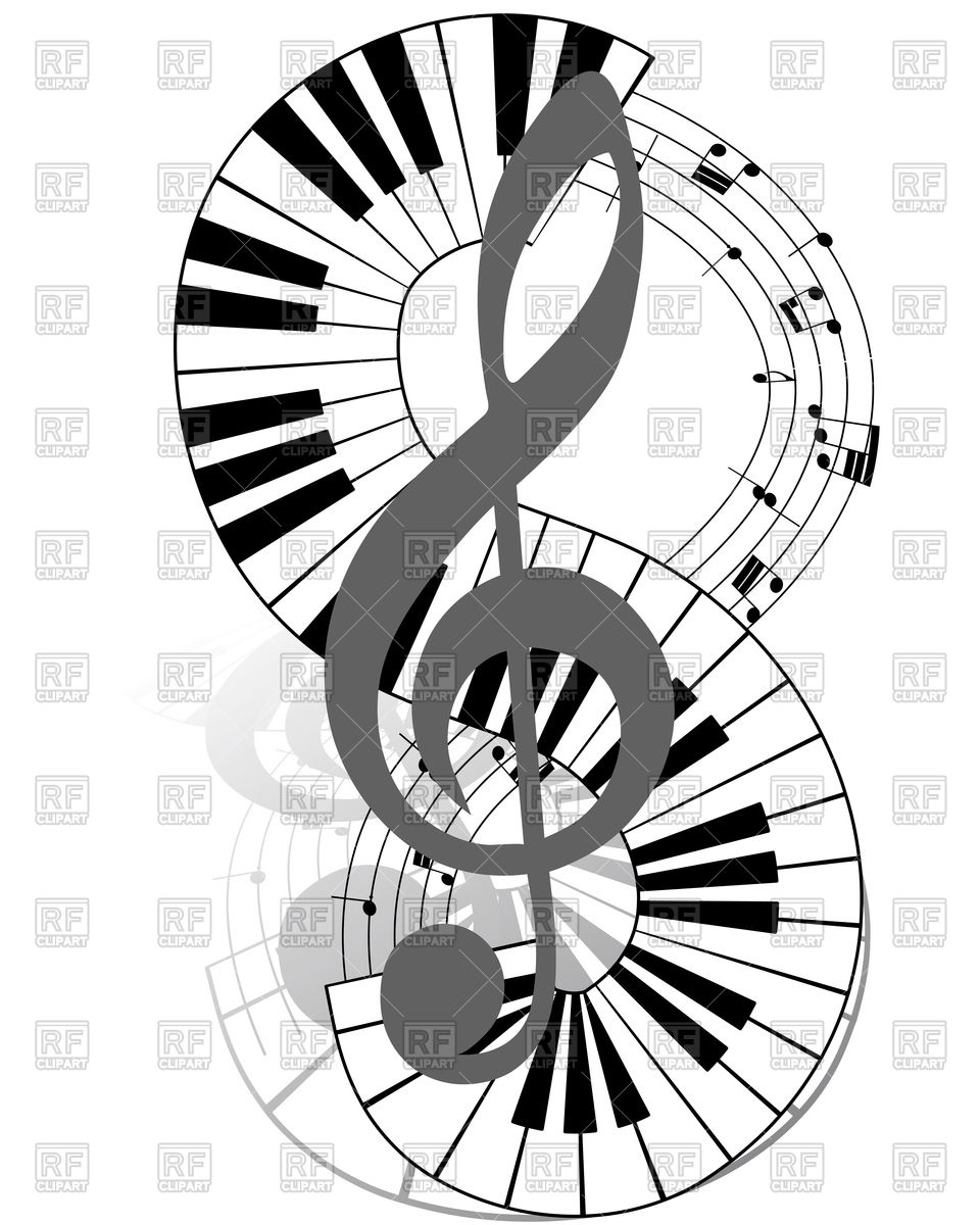 960x1200 Musical Notes Staff With Piano Keyboard Vector Image Vector