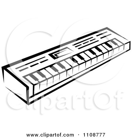 450x470 Clipart Black And White Keyboard Musical Instrument