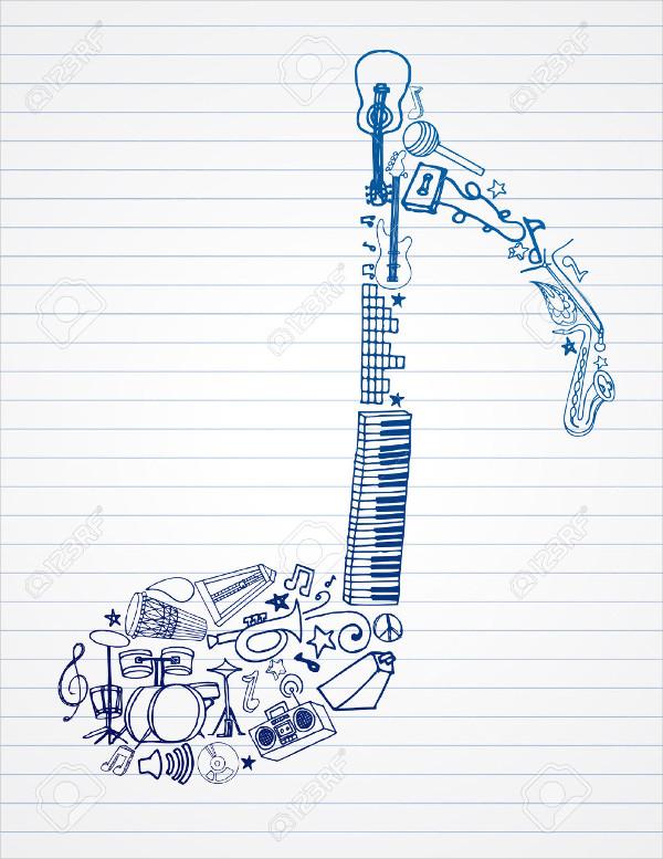 600x777 Music Drawings