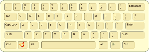 500x175 Color Vector Drawing Of Qwerty Keyboard Public Domain Vectors