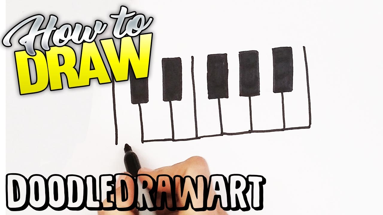 1280x720 How To Draw A Piano Keyboard Quick Draw! Step By Step Drawing