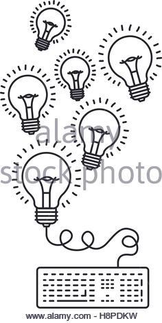 236x470 Bulb Keyboard Draw Icon. Big Idea Creativity Imagination