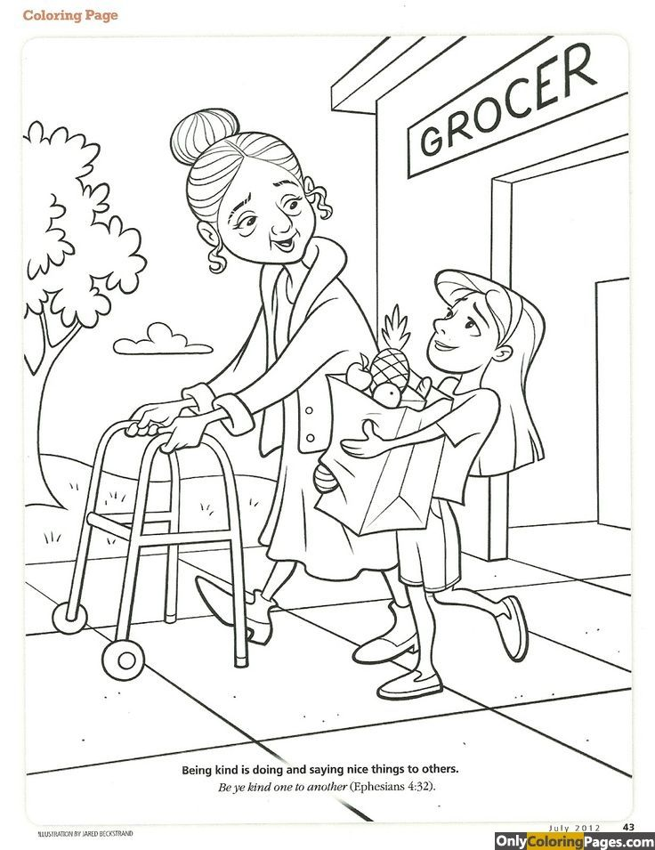 736x955 Kindness Coloring Pages Printable Sheets For Kids
