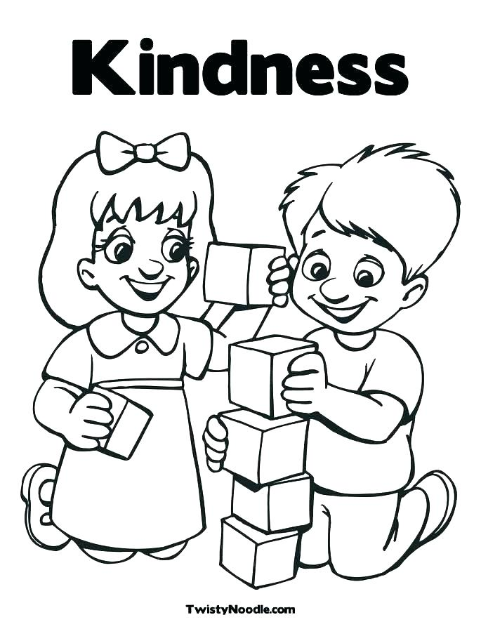 685x886 Random Acts Of Kindness Coloring Pages