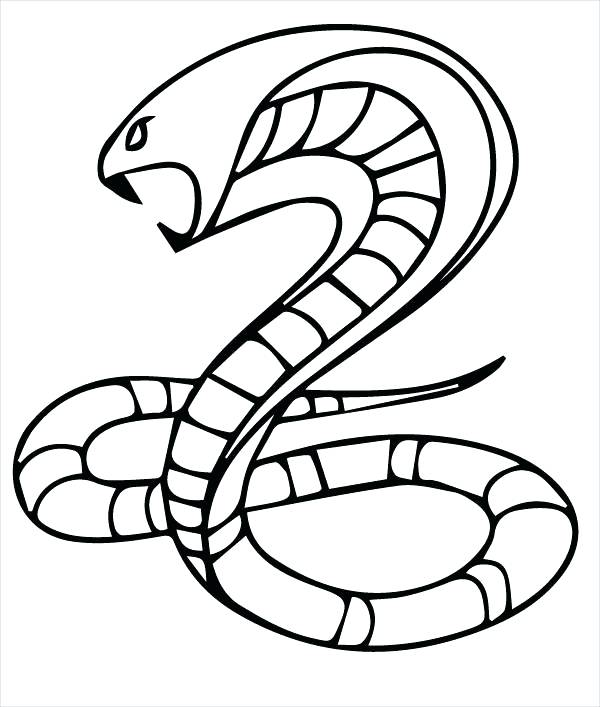 600x707 Snake Coloring Pages King Cobra Snake Coloring Page Cute Snake