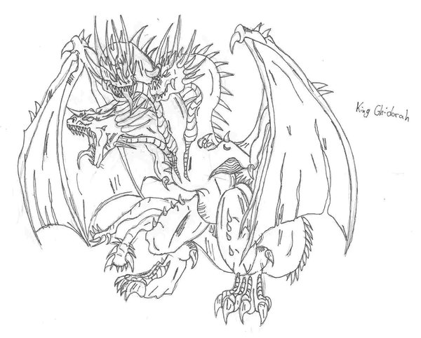 king ghidorah drawing at getdrawings com