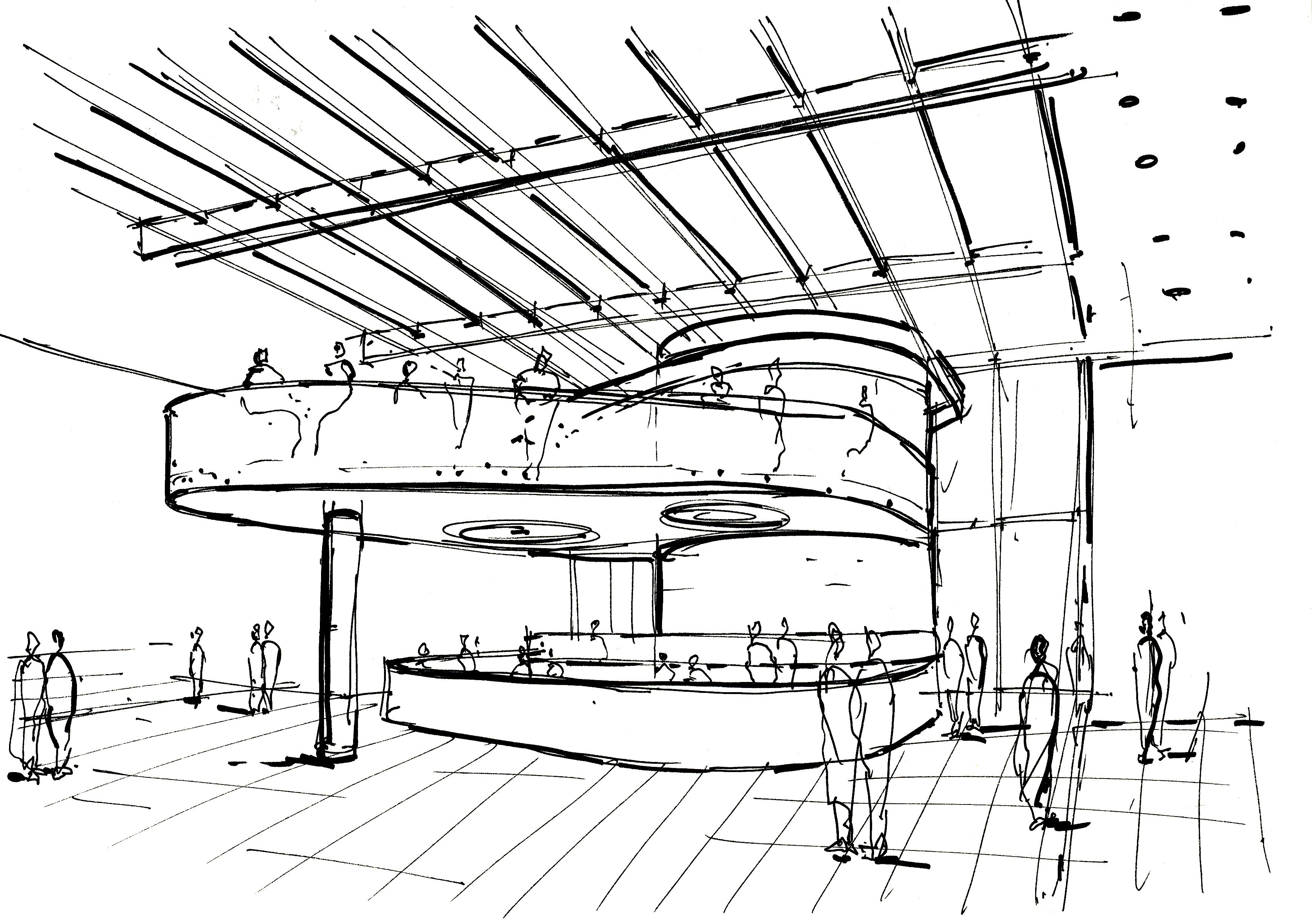3478x2451 A Sketch From Our Concept Design For Westfield Stratford Kiosk
