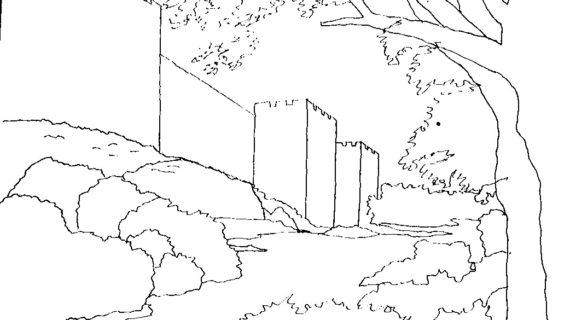 570x320 Line Drawing Landscape