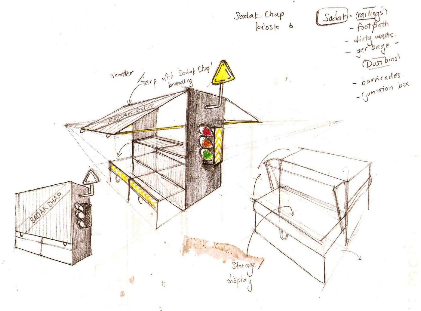 1400x1034 Kiosk Design Sadak Chap By Anees Mehkri