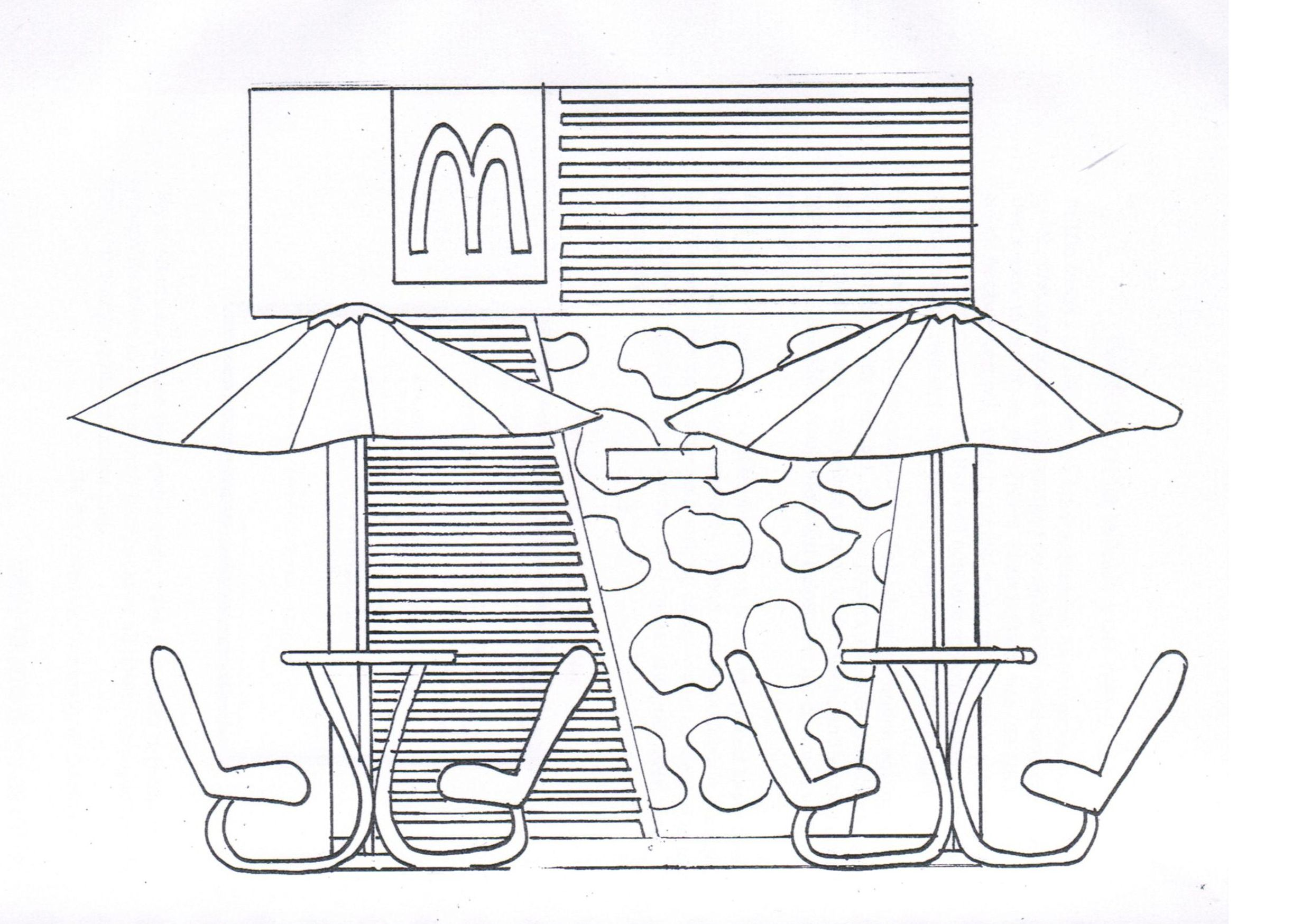 2480x1748 Elevation Of Kiosk (Kowloon Park) Sketch In Design