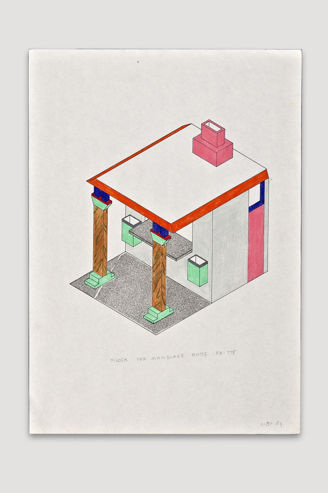 1133x1700 Kiosk Per Mangiare Robe Fritte Drawing By Nathalie Du Pasquier