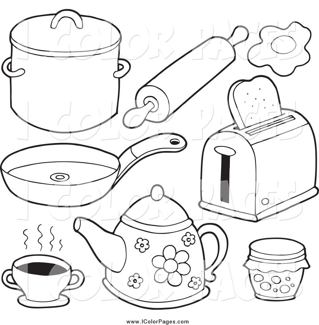 Kitchen Drawing Easy At Getdrawings Com Free For Personal Use