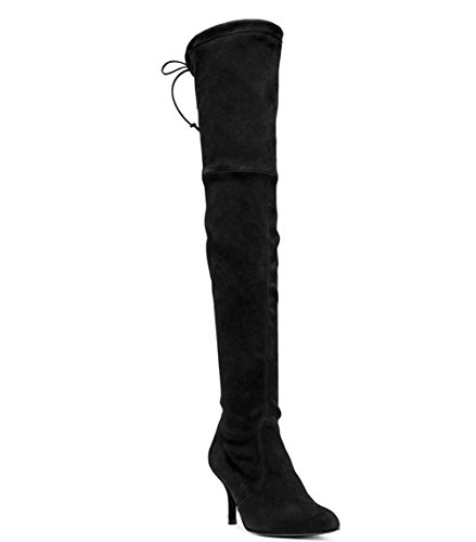 439x500 Long Thigh Boots, Stiletto Mid Heels Over The Knee