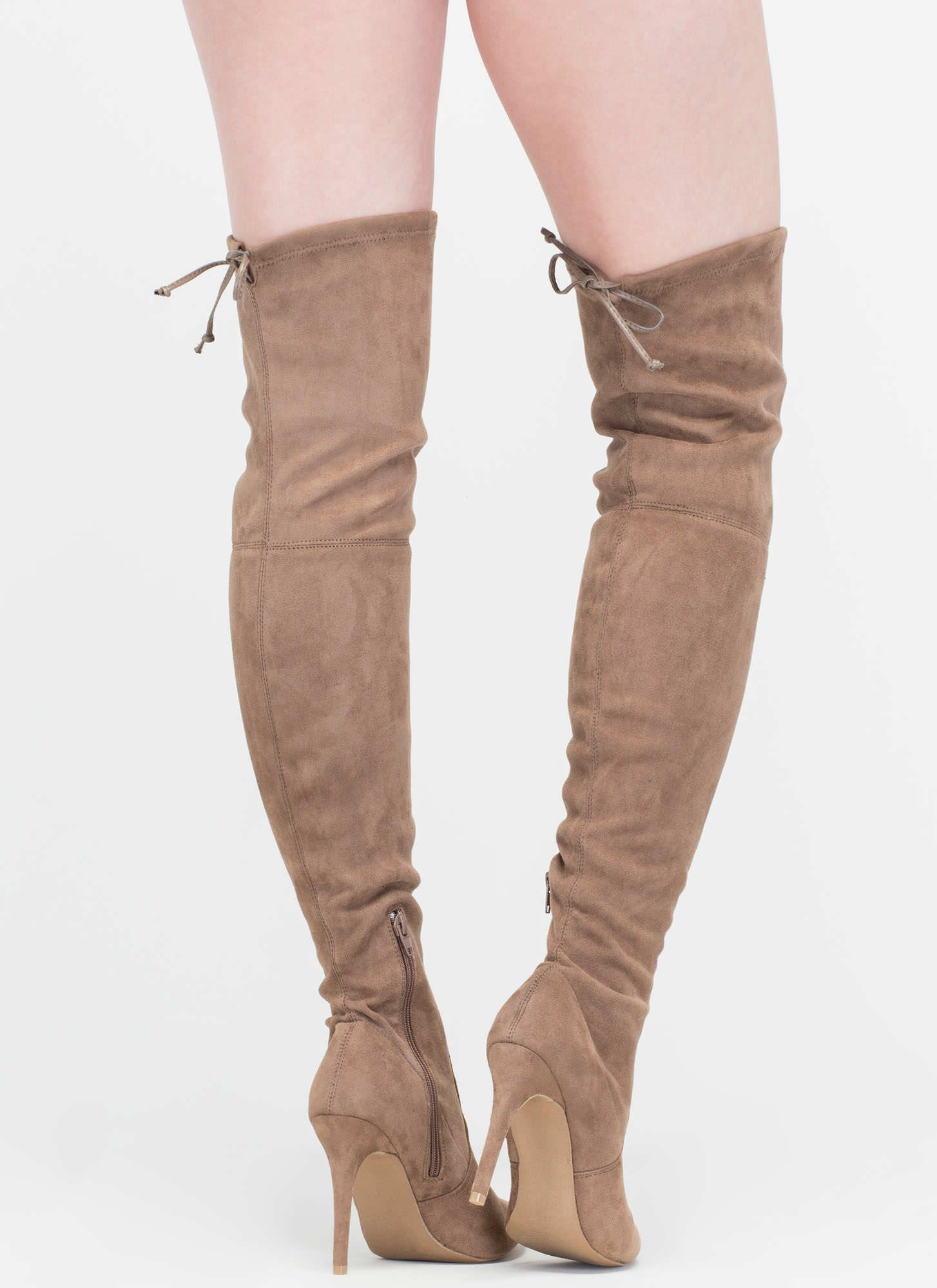 226fbf1eefd8 1454x2000 Lucky Draw Faux Suede Thigh High Boots High Boots And Thighs