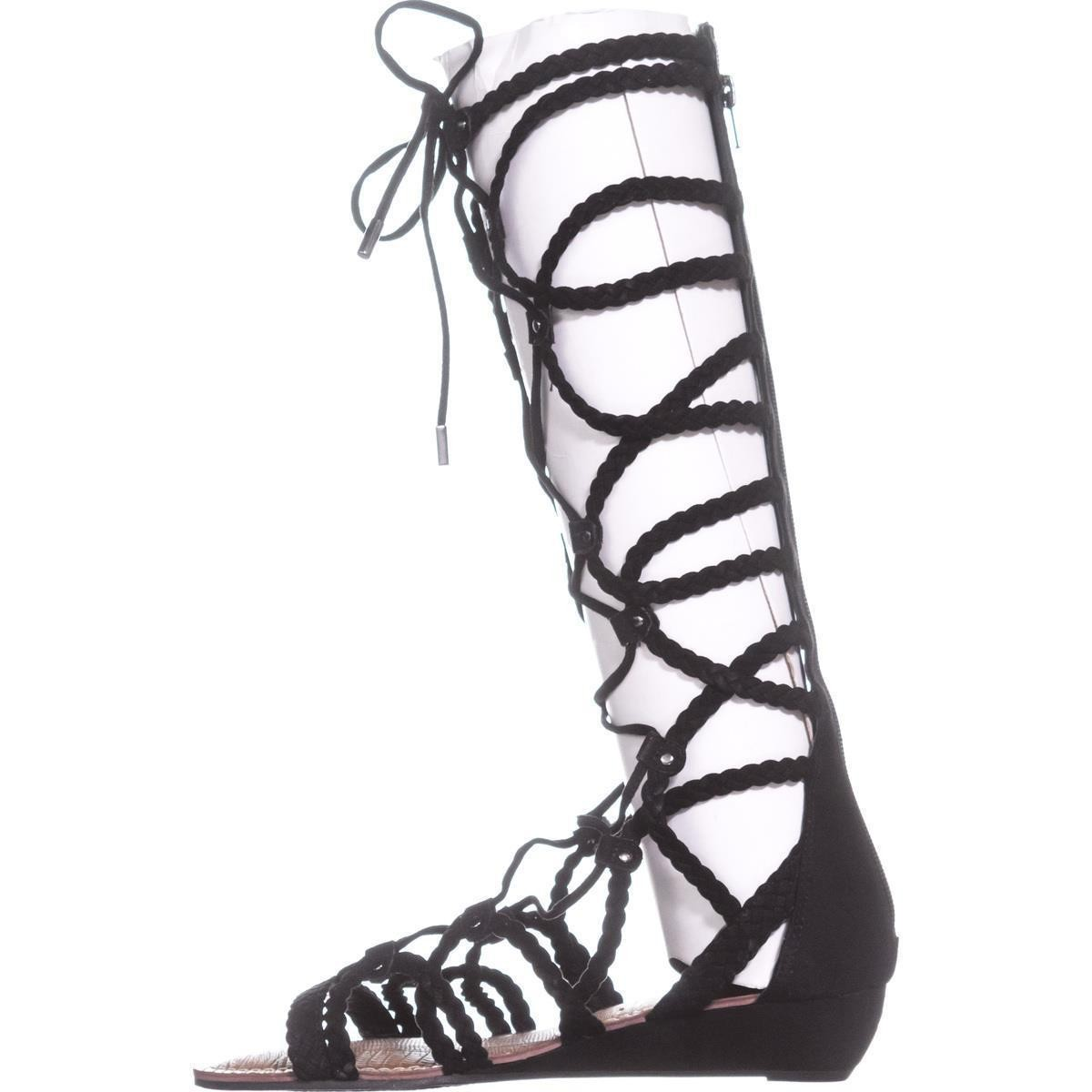 4629566969cf 1200x1200 Carlos By Carlos Santana Kalee Knee High Braided Gladiator Sandals