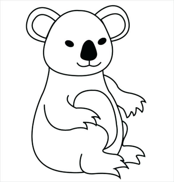 585x610 Koala Bears Cartoon Koala Bear Tree Cartoon Pencil And In Koala