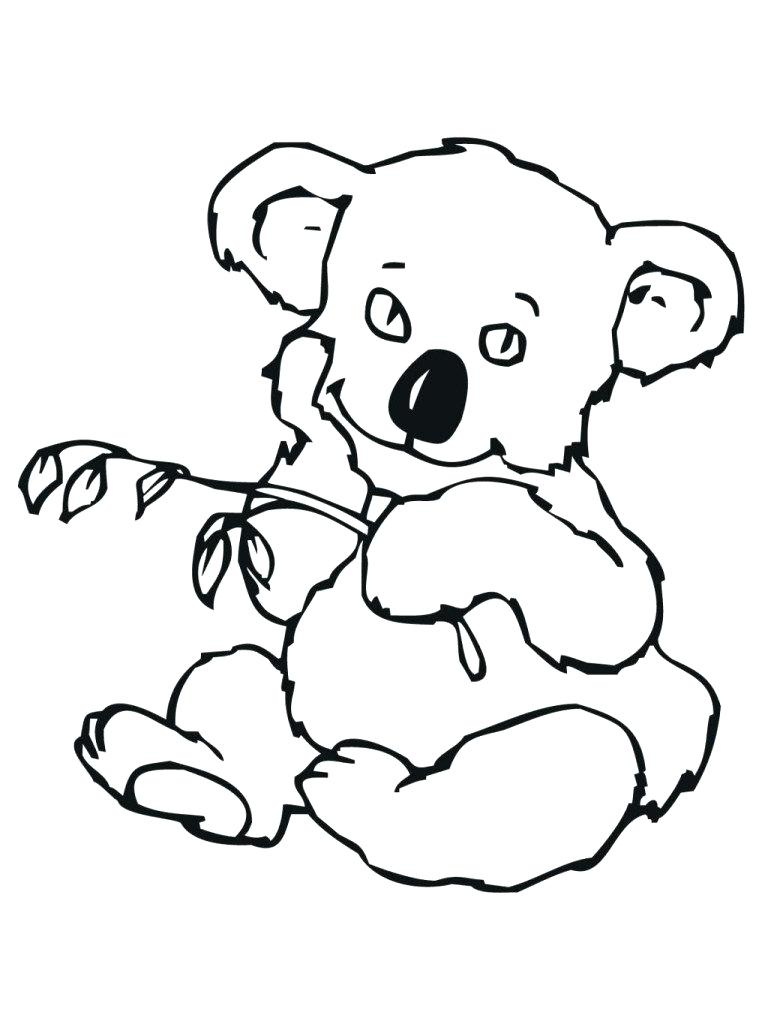 768x1024 Koala Coloring Pages 6 Koala Coloring Page Koala Face Coloring