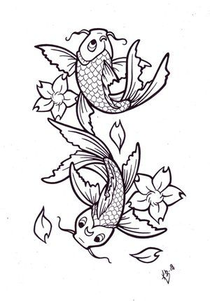 300x430 Koi Tattoo Art Japanese Koi Fish Tattoos Koi Fish Tattoos