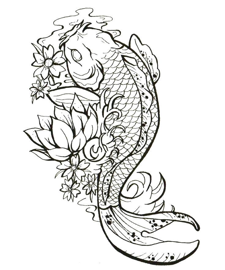 736x883 Yin And Yang Fish By On Yin And Yang Fish By Japanese Koi Fish