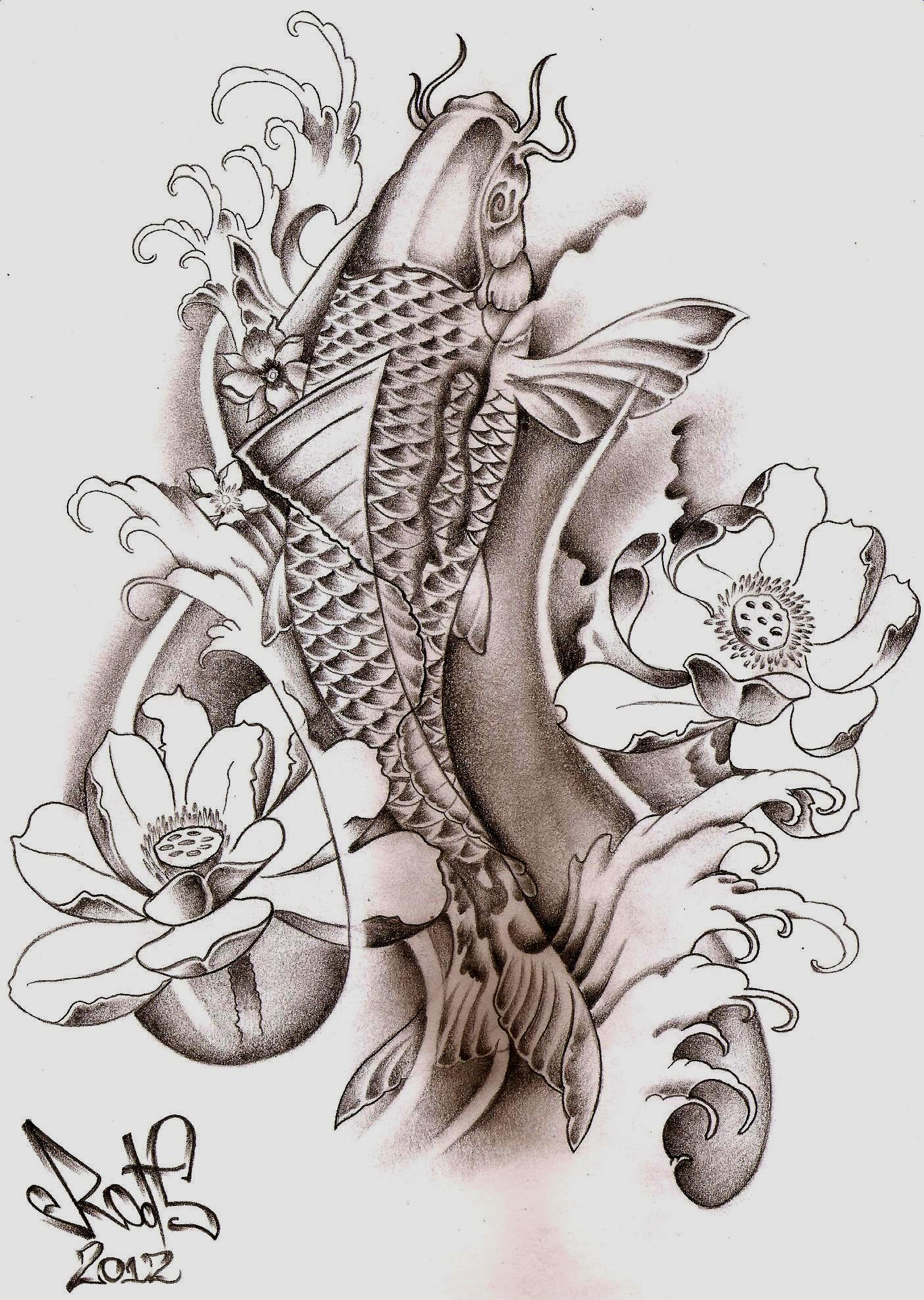 Koi Fish Tattoo Drawing At Getdrawings Free For Personal Use