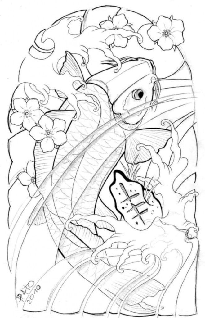 661x1024 Koi Fish Tattoo Half Sleeve Designs Cool Images Half Sleeve Tattoo