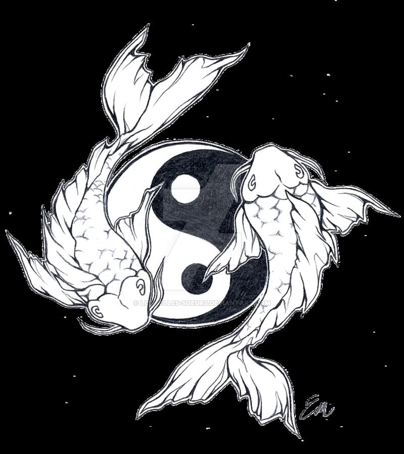 800x898 Yinyang Koi Fish Tattoo Design By Les Belles Soeurs