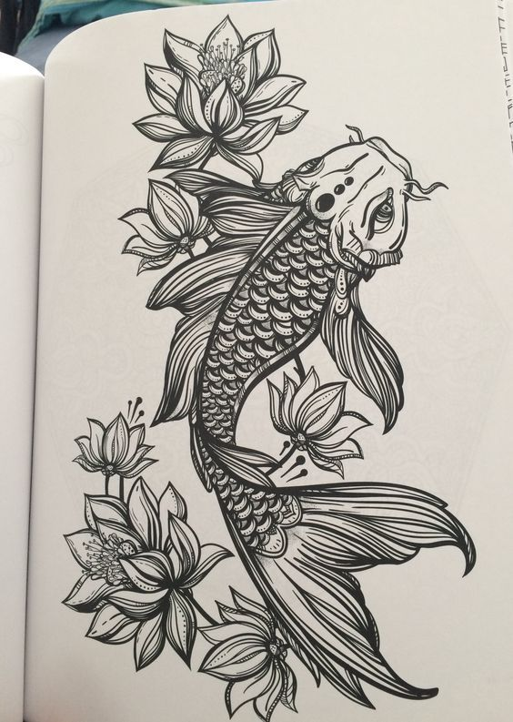 564x793 Tattoo Koi Fish Tattoo On Thigh Koi And Lotus Tattoo Fish Koi