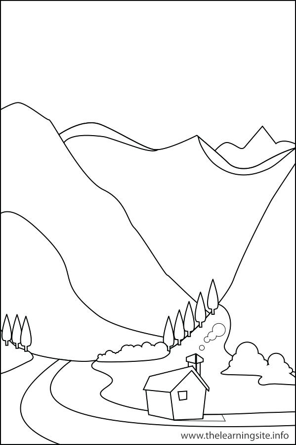 599x899 Landforms Coloring Pages Coloring Pages Nature Pencil And In Color