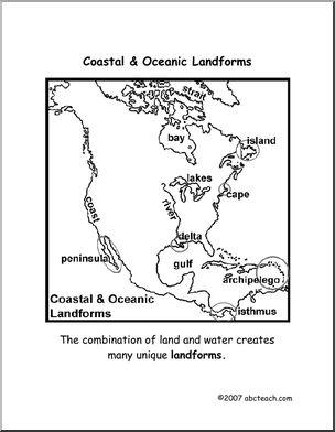 304x392 Worksheets Coastal Landforms (Elemupper Elem) Abcteach