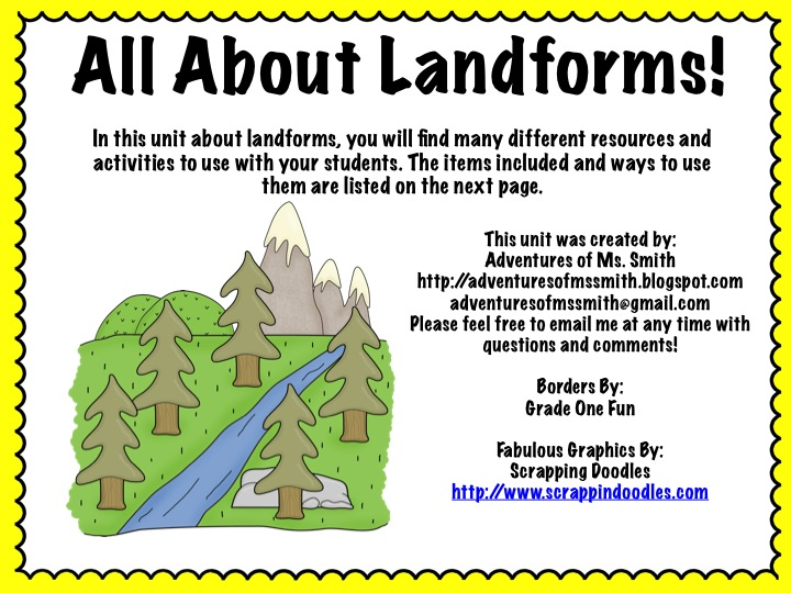 720x540 Adventures Of Ms. Smith All About Landforms! (Amp Fabulous Mail!)