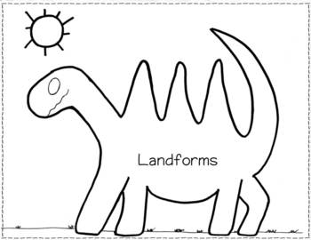 350x270 Landform Dinosaur Review In English Or Spanish By Mrs Castro Tpt