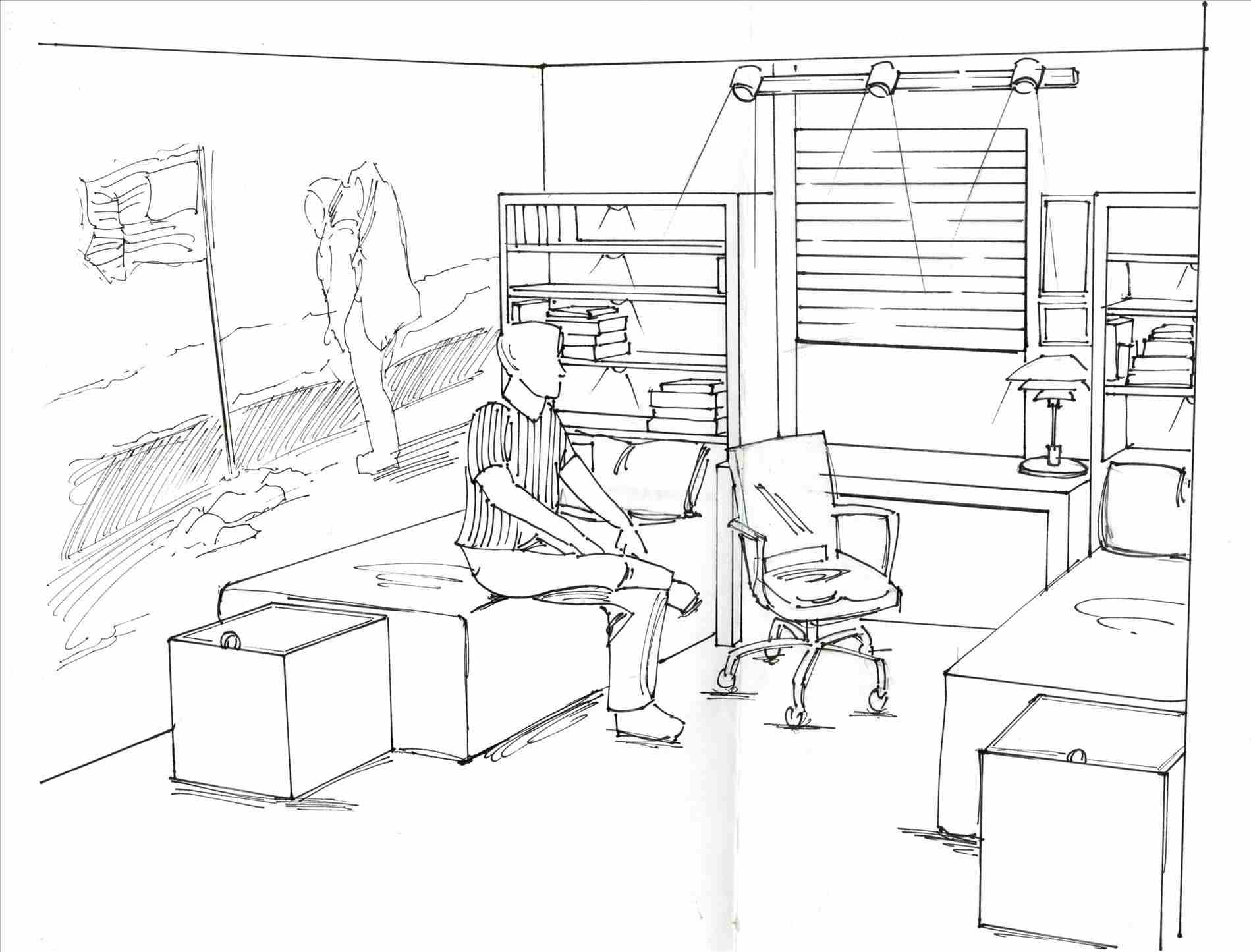 1899x1445 Simple Bedroom Drawing Of Classy Simple Rhpokegotugacom Layout