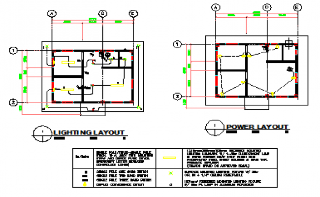 650x400 Lighting And Power Layout Design Drawing Of Small Hospital Design