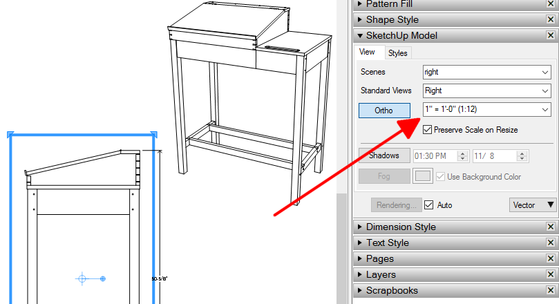 809x440 Sending A Drawing From Sketchup Make To Layout