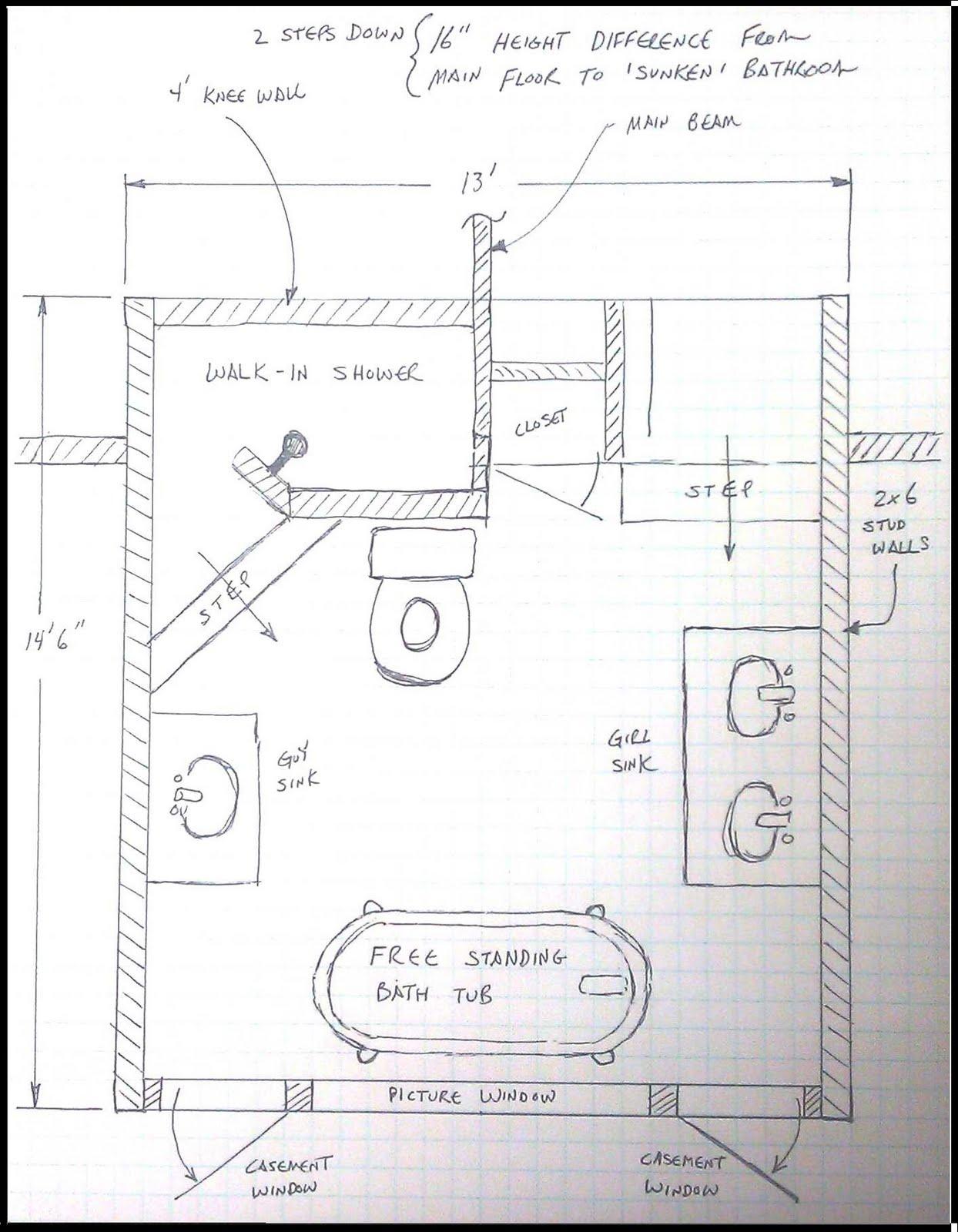 1244x1600 Drawing Bathroom Design Layout