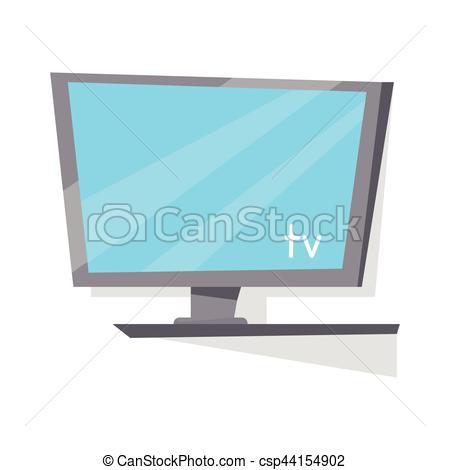450x470 Lcd Tv Monitor With Blank Screen. Gray Lcd Tv Monitor With Blank