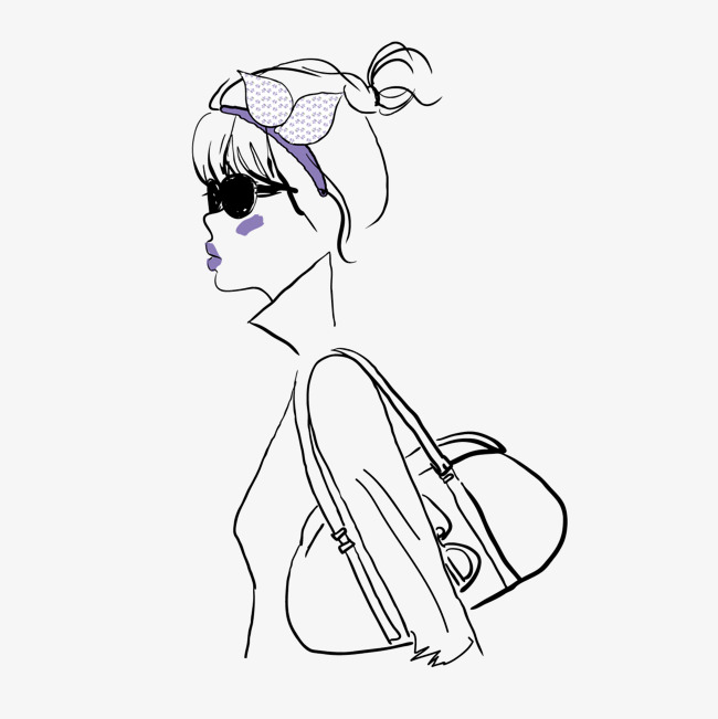 650x651 Vector Drawing Sketch The Bag, Vector, Lead Drawing, Outline Png