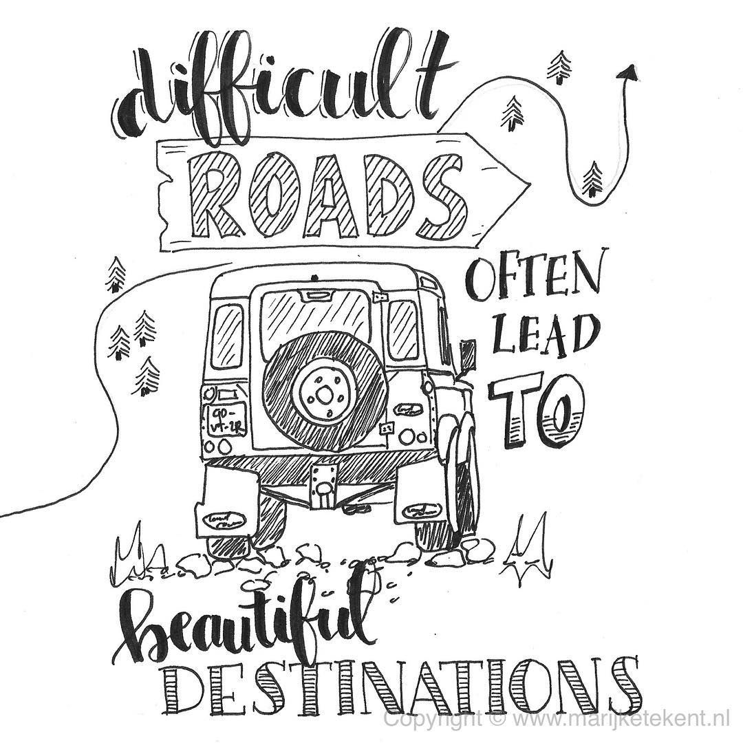 1080x1080 Difficult Roads Often Lead To Beautiful Destinations. Jeep! 611