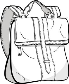 236x286 Backpack Drawing Bag Sketches Backpack Drawing