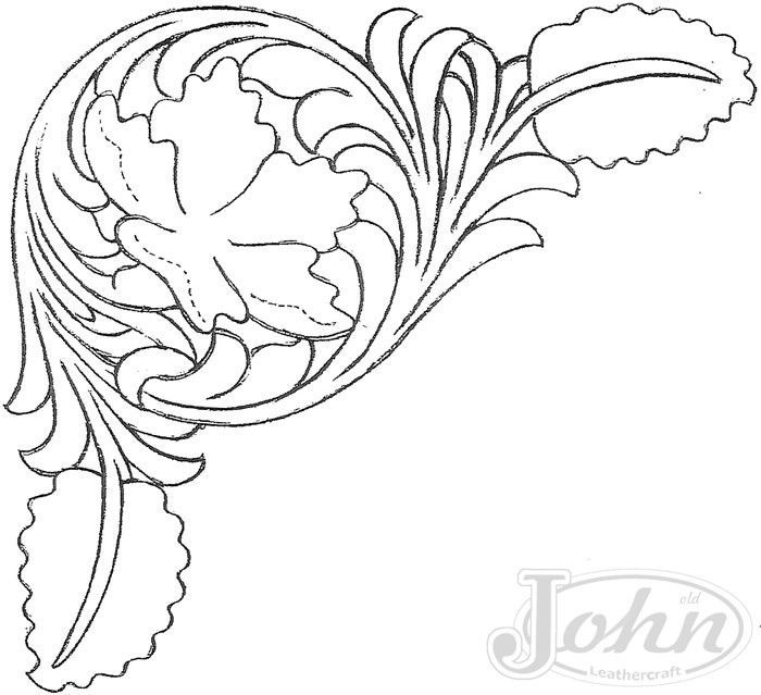 700x639 Drawings Patterns For Carving In Leather