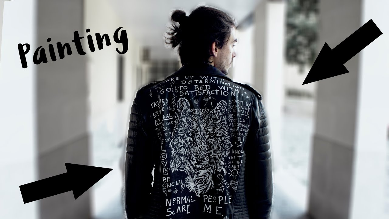 1280x720 Drawing On My Leather Jacket